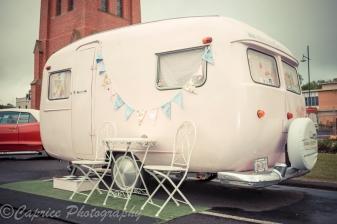 Vintage caravan on show at Camperdown Cruise