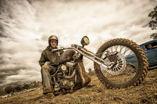 speedway bikes, dirty motorbike rider, covered in mud